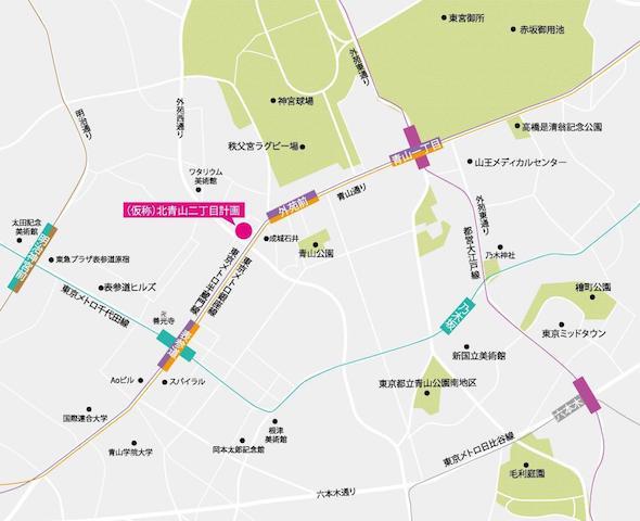 the ARGYLE aoyamaの周辺地図