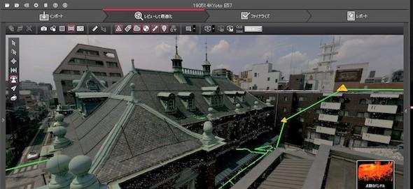 Leica BLK360で取得した京都文化博物館別館の点群データ
