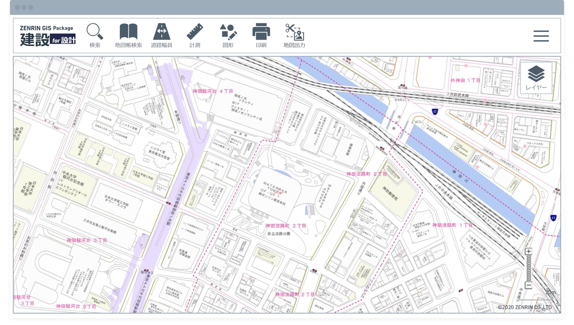 DXF形式の住宅地図データを取り込めるクラウドを発売、敷地図の作成を効率化