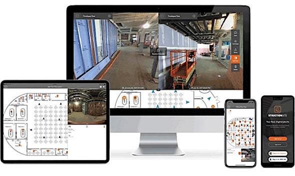 StructionSiteの利用画面イメージ