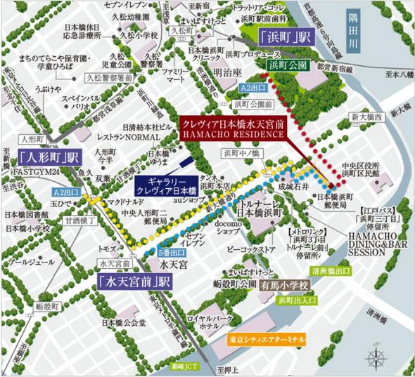 現地・ギャラリー案内図