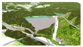 安威川ダム完成イメージ図