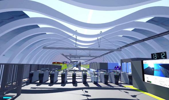 東急建設の3次元モデルを元に構築したVR空間