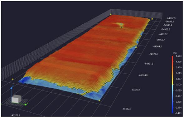 転圧施工履歴データによる土量算出