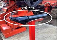 新たに開発した硬質地盤削孔が可能な先端ビット