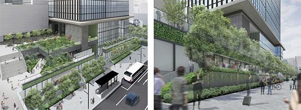 大門通り側の緑化軸を強化