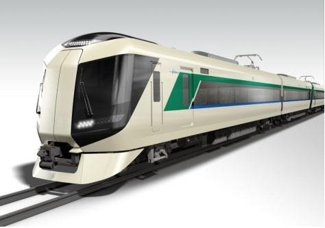 東武鉄道が2017年度から導入する500系特急電車(出典:東武鉄道プレスリリース)