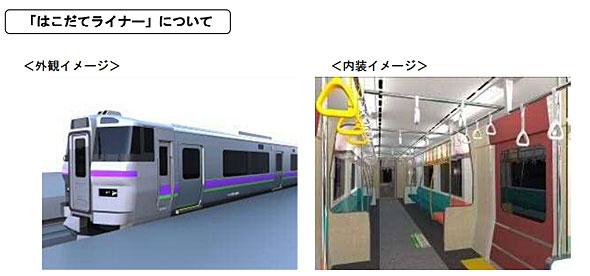 北海道新幹線と同時に運行を開始する「はこだてライナー」(出典:JR北海道プレスリリース)