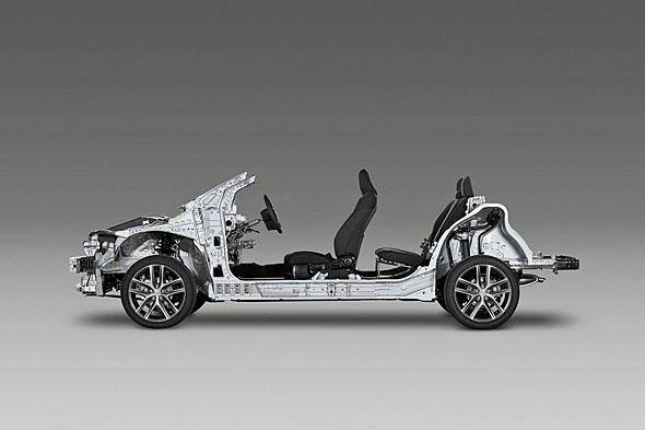 Toyota New Global Architecture(TNGA)の公式写真はまだこのボディのみ。新時代の幕開けとなるか