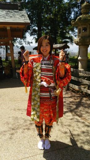 「上田真田まつり」に真田昌幸公奥方・山手殿役で毎年参加しています
