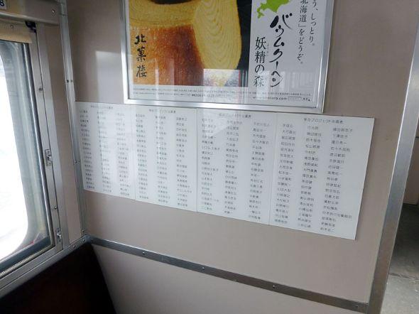 クラウドファンド参加者の名前が並ぶ。光栄の至り