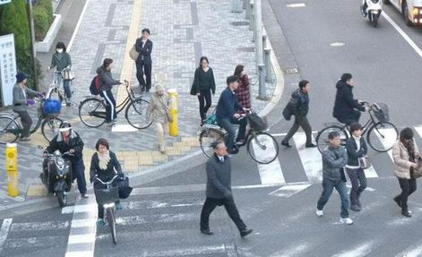 ... 自転車に乗る人はいない=堺市