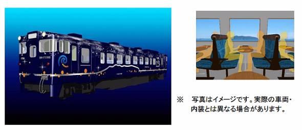 観光列車「ながまれ海峡」号で使われる特別車両(出典:道南いさりび鉄道プレスリリース)