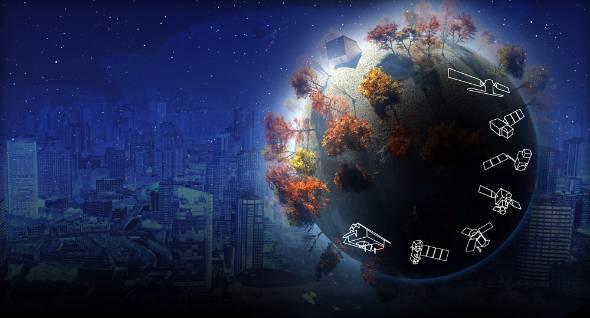 コペルニクスで運用される衛星「センチネル」のイメージ(出典:ESA)