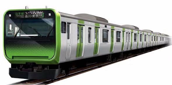 山手線の新型車両「E235」系にはさまざまな最新技術が搭載されている(同社プレスリリースより)