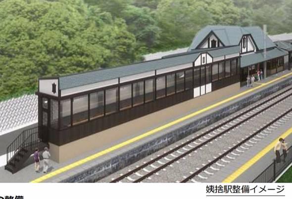 篠ノ井線の姨捨駅に夜景バーを設置する(出典:JR東日本長野支社プレスリリース)