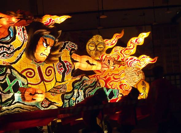 「みちのく祭りや」では季節を問わず青森の夏祭りが体験できる
