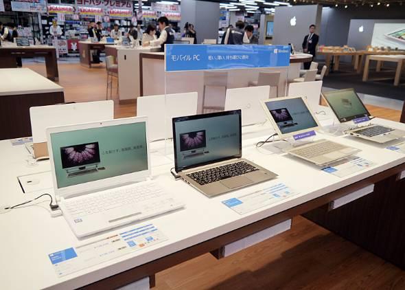 PCが売れない時代がやって来た(写真はヨドバシカメラの売り場)