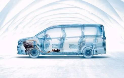 トヨタ ヴォクシーの透視図