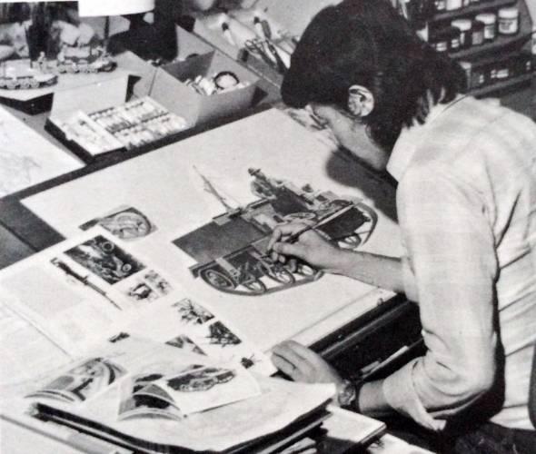 当時のタミヤ 企画部デザイン室の様子