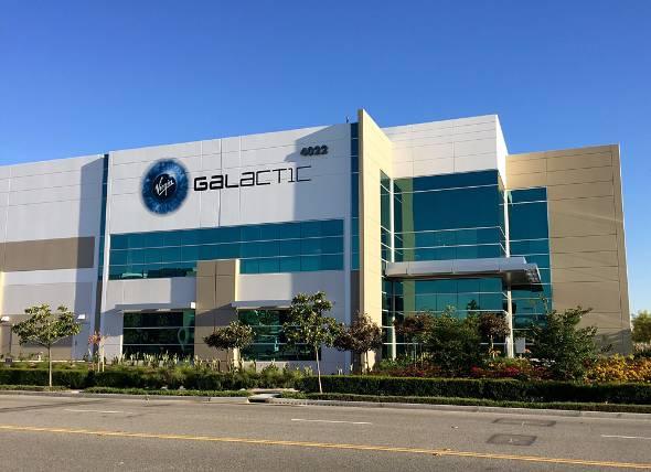 カリフォルニア州にあるVirgin Galacticの施設