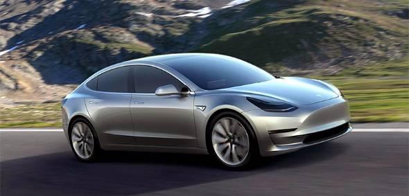 テスラの新型車「Model 3」(出典:同社サイト)