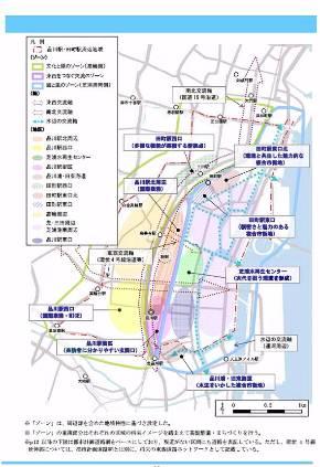 東京都の再開発計画は、品川開発プロジェクトよりも広範囲だ(出典:東京都)
