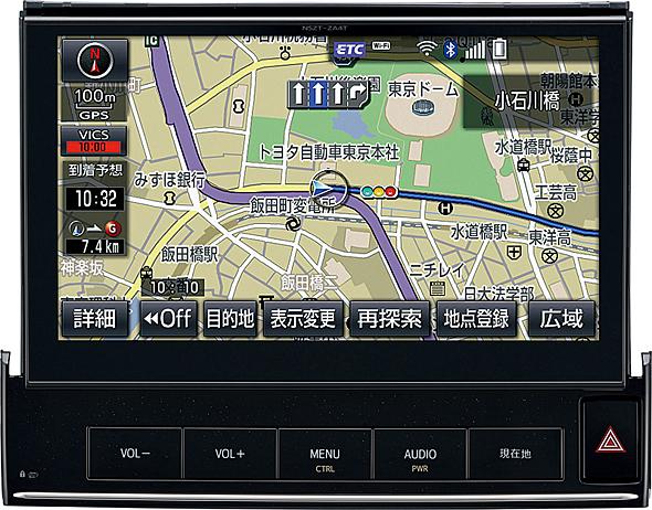 トヨタの次世代テレマティクスサービス、T-Connect。ナビをベースに通信機能を盛り込み、データやサポートセンターなどによるさまざまな支援が受けられる