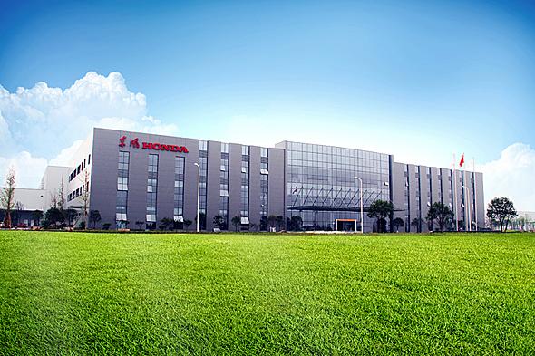 ホンダの中国合弁企業である東風本田汽車有限公司の第2工場。これに加えて新たに第3工場の起工式が行われた
