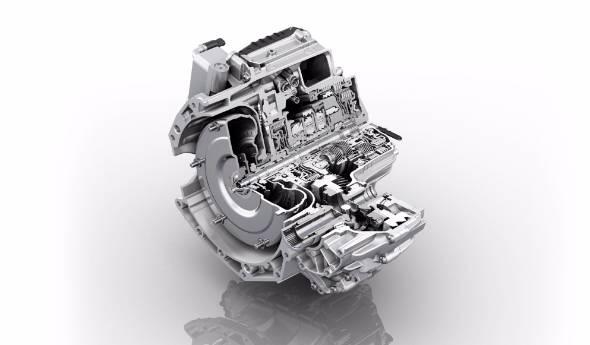 変速機で有名なドイツのZF社が開発した横置き9段変速機。変速比の倍率はほぼ10倍に到達した