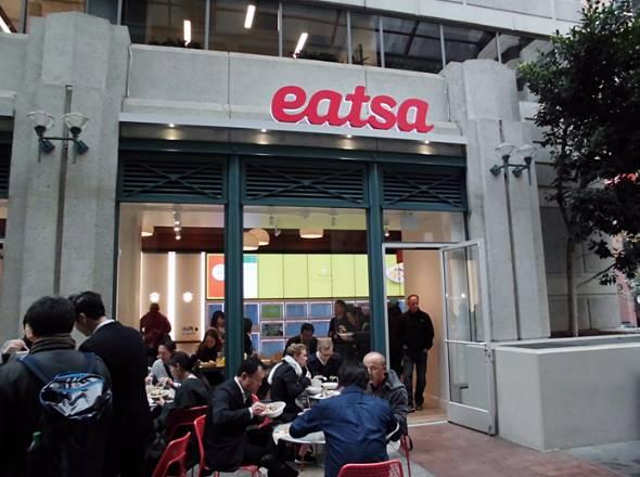 サンフランシスコで人気の「Eatsa」。ランチを過ぎた15時ごろでも店には大勢の来客が