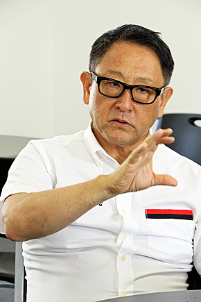 TNGA推進の源流は豊田章男社長が進める「もっといいクルマづくり」(撮影:筆者)