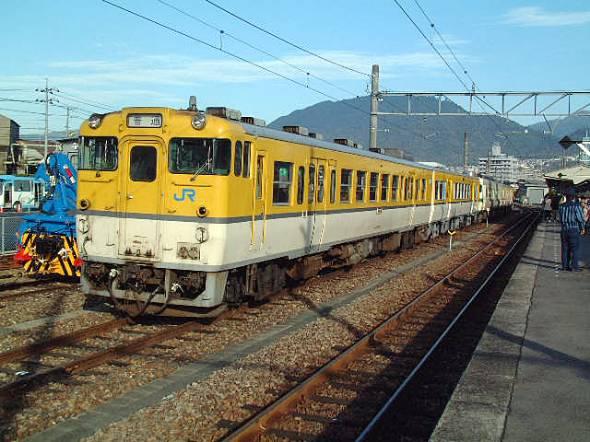 可部線の非電化区間を走っていたキハ40系気動車(2003)