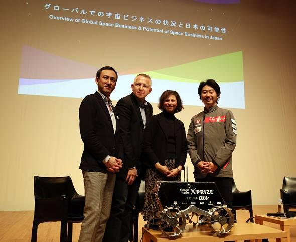 左から水島氏、ホルン氏、ペッカネン氏、袴田氏