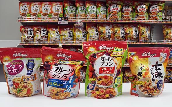 日本ケロッグの売り上げの大半をグラノーラ商品が占める
