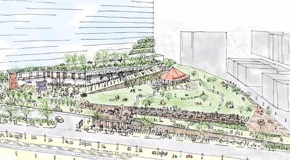 新今宮駅前に開業する都市観光ホテルの完成イメージ図