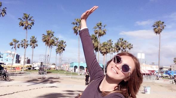 ロサンゼルスの代表的な名所、ベニスビーチにて