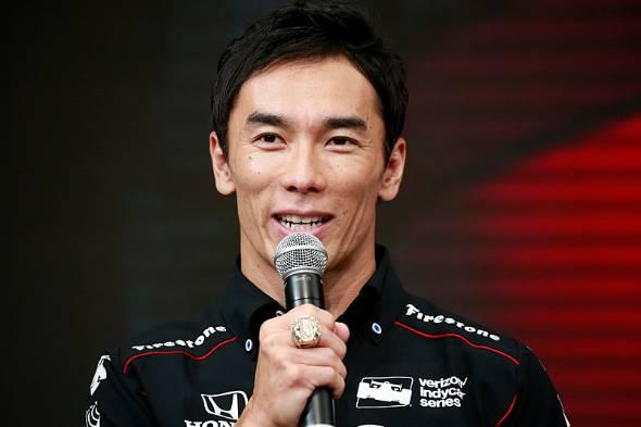 インディ500で日本人初の優勝を成し遂げた佐藤琢磨選手(撮影:小池義弘)