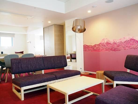 大半の客室をリニューアルしてワインリゾートを意識させるデザインに