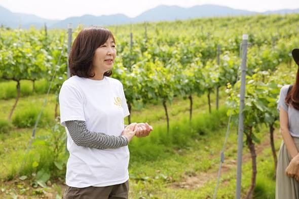 ワイン醸造家の池野美映さん