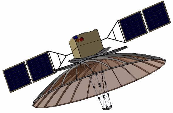 QPSの小型レーダー衛星イメージ(出典:QPS研究所)