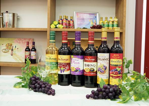 メルシャン藤沢工場で製造している国産デイリーワインの「ボン・ルージュ」