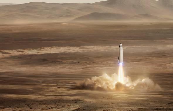 米SpaceXのイーロン・マスク氏は人類の火星移住を唱える(出典:SpaceX)
