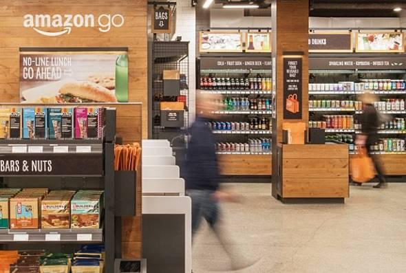 話題の「Amazon Go(アマゾン・ゴー)」(出典:Amazon)