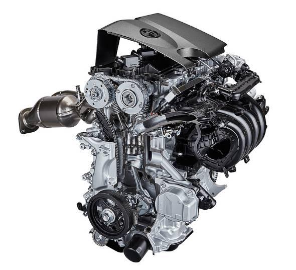 トヨタが新たに開発した「Dynamic Force Engine」は直列4気筒2.0直噴ユニット。エンジン単体での熱効率41%を達成した