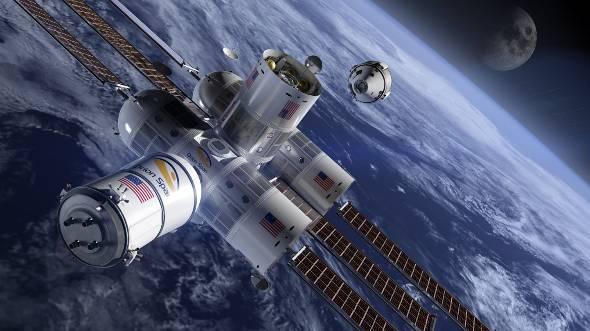 Orion Spanによる宇宙ステーション構想(出典:同社公式Twitter)