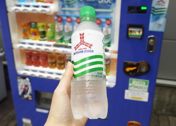 アサヒ飲料が自販機で販売する、マイナス5度の「三ツ矢サイダー」