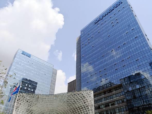 広東省深セン市にある、DJIが入居するスカイワース・ビル