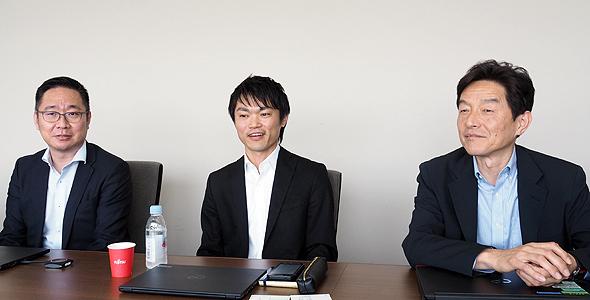 CIT推進本部の池田優仁氏(左)、内橋一氏(中央)、河崎恭一郎氏