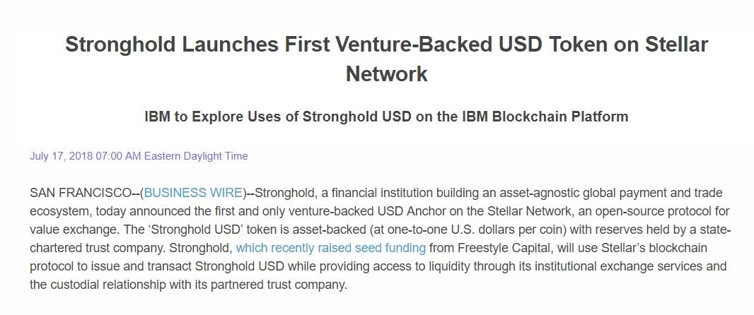 [ITmedia ビジネスオンライン] IBM、新たな仮想通貨の開発に着手 米ドルにペッグする安定した仮想通貨を